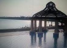 شقه للايجار غرفتين دور ارضي عند المسبح والبحر في امواج
