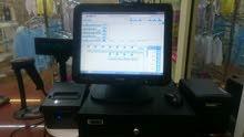 كمبيوتر محاسبة متكامل، كاشيير، يعمل باللمس، نظيف جداً وكأنه جديد