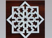 زخارف اسلامية وقوالب للطباعة على الطين