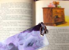 Purple Medium Resin Bookmark