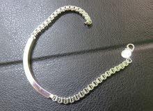 اسوارة فضة عيار 925  رجالي ستاتي جديدة للبيع 925 silver bracelet