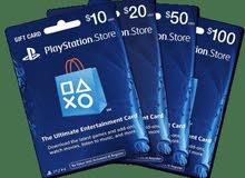 بطاقات playstation - xbox - Nintendo- Google play - apple store بأفضل الأسعار