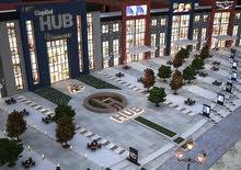 محل للبيع باول مول له واجهة امامية و واجهة خلفية علي المحور المركزي مباشرة