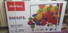 TV Supra smart  new brand 55 inch 4k ( wall hanger )