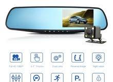 مرآة وتسجيل فيديو لمراقبة حالة الشارع