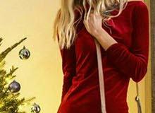فستان قطيفة بابا نويل