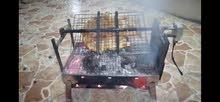 شواية فحم تعمل بلكهربة دوران لشوي السمك والدجاج والحم