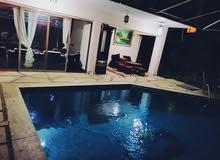 فبلا مفىوشة للإيجار اليومي 4 غرف مكيفين 4 حمامات جلسة عربي مسبح خاص
