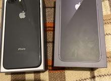 للبيع ايفون 8بلس القيقات 256 الجهاز استعمال اسبوع فقد جديد