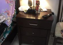double bed with two side tables without mattress,dressing table is also included