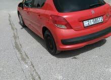 بيجو 207  لون احمر مميز للبيع