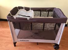 Mothercare Travel Baby Cot + Double Mattress + Changing Station + Carry Bag