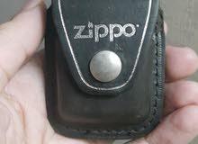 حافظة وحمالة قداحة zippo جلد اصلي امريكي