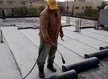 لسد تسريب المياة او الرطوبه نعمل في جميع أنواع العزل الأسطح و رولات ساخنه