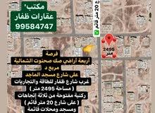 للبيع 4 أراشي صك ركنية بمساحة 2500 متر في صحنوت الشمالية مربع د