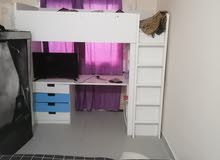 kid bed with study desk