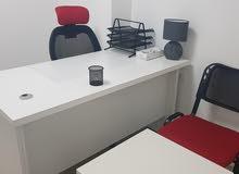 ب 100 دينار ايجار مكتبك اول شهر (عدة مكاتب مفروشة) ورخص مهن
