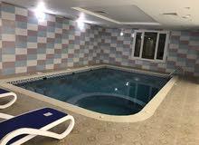 للايجار شاليه في مدينة صباح الأحمد البحريه نظام برايفت عائلي مع حمام سباحه داخلي كبير