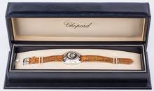 ساعة شوبارد سويسرية اصلية  Chopard 18K white gold Happy Diamonds Happy Spirit Watch