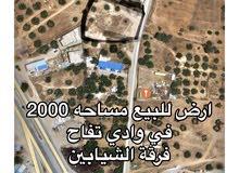 ارض للبيع في وادي تفاح بي قرب من تقاطع ابوزيان فتحت الشيابين