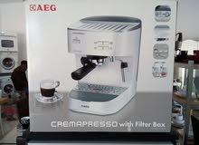 مكينة قهوا منزيلية ماركة AEG المانية جديدة