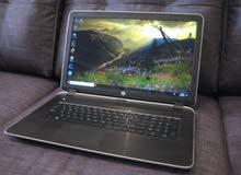 HP PAVILION 15 CORE I5 جيل رابع رمات 4 جيجا هارد 500 ساتا بيشغل ال 3D بكفاءه