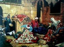 رسم البورتريه واللوحات والجداريات (النحتية والرسم والزخارف)