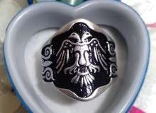 خاتم فضة أيطالي يضيق ويوسع دون لحام