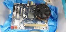 لوحة ASROCK بمعالج بنتيم 4 معاها 2هاردسك 80قيقا و4رام 2واحد قيقا 2 نص قيقا DDR2