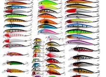 طعم سنارة هوك صيد سمك عدد 56 قطعة 8 مجموعات شحن مجاني
