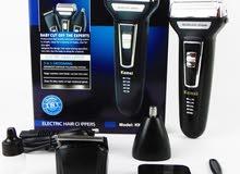 Km-6558 ماكينة كهربائية لقص الشعر 3 فى 1 - أسود by badronline