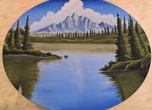 لوحه جداريه مرسومه باليد