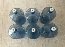 6 Oasis Empty Gallons for Cooler 6 زجاجات/جالونات ماء للكولر