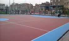 اكريليك لملاعب التنس والطائرة والسلة