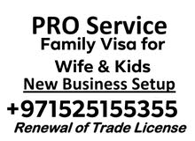 FAMILY VISA SERVICES For WIFE and Kids PRO SERVICES IN ALL UAE +971525155355