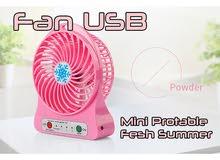 مروحة يو اس بي ميني فان لسطح المكتب ، مروحة تبريد ، USB Mini Protable Fesh Summer Fan - Pink