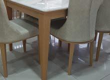طاولة رخام 6 كراسي راقية جدا