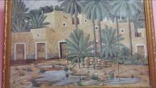 لوحة فنية تظهر عراقة التراث السعودي رسمت عام 1417