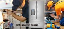 تصليح وصيانة جميع انواع الثلاجات والغسالات  والمكيفات