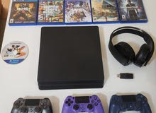 Sony PS4 Slim 500 GB + 6 Games + 3 Controllers + Sony Platinum Wireless Headset