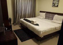 غرفة وصاله مفروشه نظام فندقي للايجار الشهري في عجمان شارع الكويت
