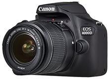 Canon EOS 4000D EF-S 18-55mm III Lens - Black كانونيوجد لدينا جميع انواع الكمرات ارسل طلبك برساله
