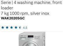 BOSCH SERIES 4 washing machine, front loader 7kg 1000rpm