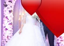 فستان زفاف للايجار لاول مرة