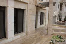 شقة ارضية طابقية دوبلكس للبيع في الكرسي بمساحة 470م مع حديقة وترسات 400م قيد التشطيب