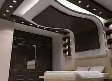 الراقي للاسقف المعلقة 60×60 وفوصل الجبس بورد والفلات وديكورات الجبس والباركي