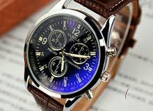 ساعة يد ماركة yazole يد جلد انيقة وجميلة ومتوسطة الحجم