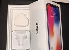 سماعات iPhone x مع عظمة شاحن اصلية من الكرتونة