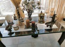 3 Glass Tables Set (2 corner and one center) - طاولات زجاجية عدد 3