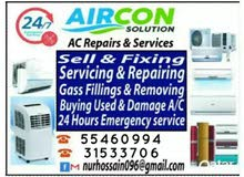 Ac cleaning or gas filling window or selling type, buying and selling all brand